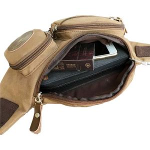 Men′s Casual Canvas Travel Belt Wallet Waist Pack Bag pictures & photos