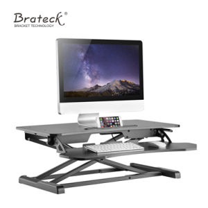 Sit Stand Desktop Office Workstation Computer Desk Staff Table, Height Adjustable Desk