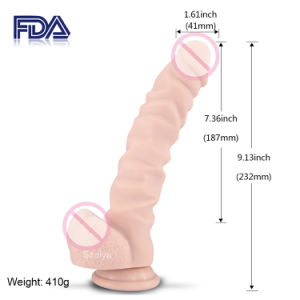 Temperature Sensitive Control Rotating Strap on Dildo Sex Toy (DYAST394B) pictures & photos