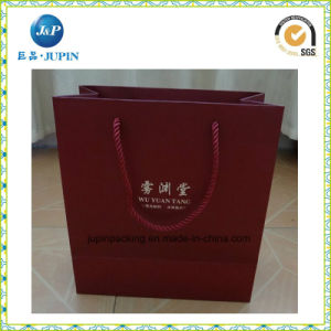 Eco-Friendly Customized Red Paper Jewelry Bag with Handles (JP-PB021) pictures & photos