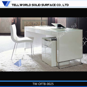 White High Gloss Unique Office Desk for Manager pictures & photos