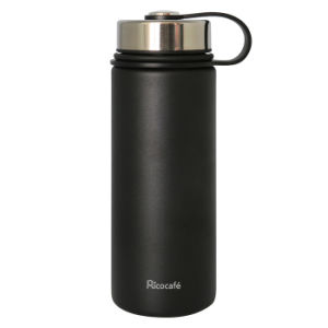 Stainless Steel Vacuum Sports Bottle Black 540ml pictures & photos