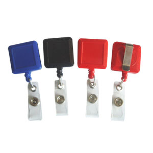 China Professional Supplier Square Shape ID Badge Reel pictures & photos