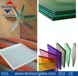 Yellow/ Red PVB Laminated Float Glass with Australian Standard AS/NZS2208 pictures & photos