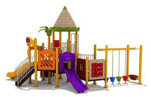 Plastic Outdoor Playground (BW-Y060)