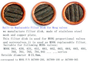 Filter Disk for Moog Valves (A67999-)