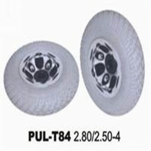 PU Filled Rubber Solid Wheelchair Wheel pictures & photos