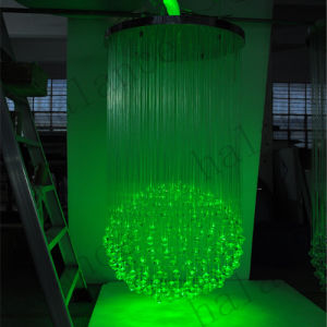 China optical fiber chandelier for home decorations for Fiber optic halloween decorations home