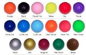 Color Golf Range Balls