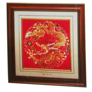 24k Pure Gold Foil Brocade Painting