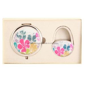 Full Color Printed Purse Hook and Keyring Gift Set pictures & photos