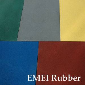 Shock Absorbing Rubber Floor Mat/ Playground Rubber Tiles pictures & photos