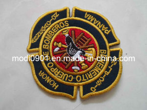3D Embroidery Badge/Patch + Flocking Heat Transfer for Football Wear/Soccer Jersey Heat Press Patches Embroidery Patch-Garment Label pictures & photos