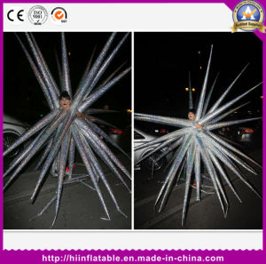 Crazy Inflatable Silver Performance Costume Lady Gaga Wearing Star Decoration Stage Party Club Decoration pictures & photos