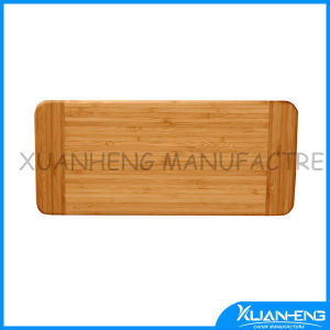 Bamboo Food Preparation Cutting Board with Groove Handle pictures & photos