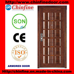 New Style Steel-Wood Armored Doors (CF-U013) pictures & photos