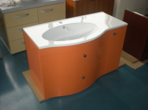 Curved Door Bathroom Cabinet