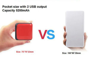 5200mAh Cheap OEM/ODM Mini Prtable Power Bank Lcpb-As005 pictures & photos