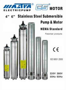 Submersible Pump Stainless Steel 4′′ pictures & photos