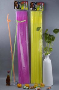 High Quality Long Plastic Artistic Straw pictures & photos