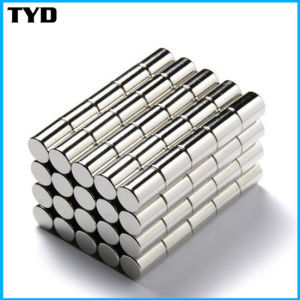 Ni-Cu-Ni Coating N50 Strong Cylinder NdFeB Magnet Permanent