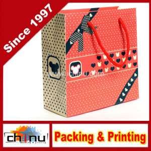 Custom Logo Printed Gift Paper Bag for Shopping (3224) pictures & photos