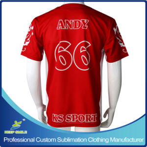 Custom Made Sublimation Printing 3 Buttons Baseball Shirts pictures & photos
