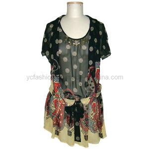 Ladies Silk Georgette Print Dress