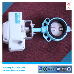 Wafer type butterfly valve with Electronic actuator soft sealing BCT-E-RBFV-10 pictures & photos