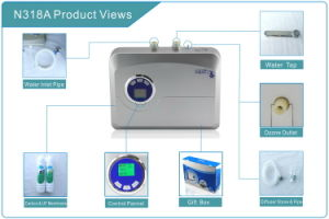 Active Carbon & UF Membrane Filter 500mg/H Ozone Sterilizer Kitchen Water Purifier pictures & photos