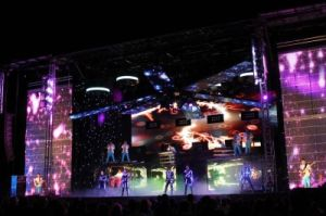 LED Video Wall/Soft Flexible LED Curtain for Stage Lighting (P30, P55, P80 LED net screen) pictures & photos