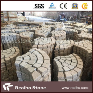Fan Shaped Natural Granite Driveway Pavers Tile for Outdoor Stones pictures & photos