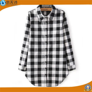 OEM Women Fashion Tops Cotton Blouse Shirts Casual Dress Blouse pictures & photos