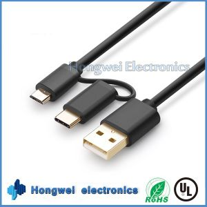 New Design Aluminum Micro and Type C 2 in 1 USB Cable pictures & photos
