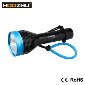 Professional Waterproof LED Flashlights for Dive Hoozhu D30