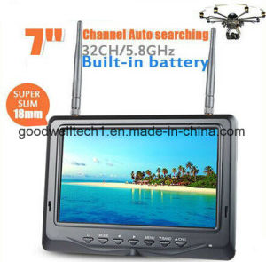 7 Inch 5.8GHz LCD Diversity Receiver with Battery pictures & photos