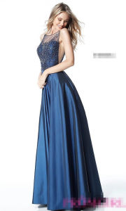 2017 Taffeta A-Line Cocktail Party Prom Evening Dresses Pg004 pictures & photos