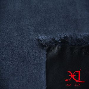 Polyester Navy Blue One Side Suede Fabric for Garment/Sofa pictures & photos
