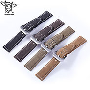 Handmade Leather Dull Polish/No Shinny Cowhide Watch Band