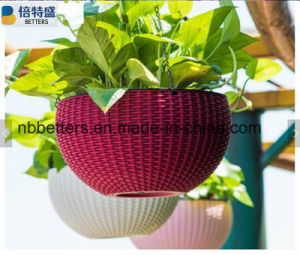 Made in China COM Home & Garden Injection Moulding Colorful Plastic Flower Pots pictures & photos