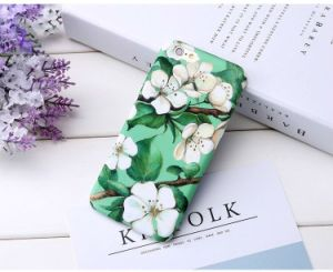 Glow in The Dark Floral Pattern Soft TPU Back Cover pictures & photos