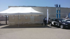 3X6m White Aluminum Folding Tent Set up in Russia