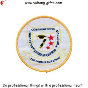 Round School Woven Badge for Garments (YH-WB029) pictures & photos