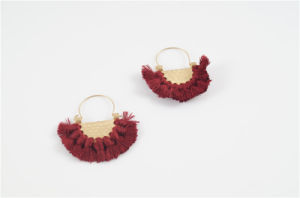 Textured Alloy with String Knot Earring