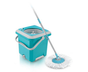 Spin Mop - Hand Push Spin Mop 2 Microfiber Mop Heads pictures & photos