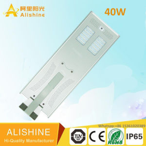 Ce RoHS IEC BV Working Mode Settable 110lm/W 40W LED Solar Street Light pictures & photos