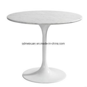 Marble Table Tulip Table Leisure Clubs Marble Table Upscale Hotel White Round Table Negotiations (M-X3777) pictures & photos