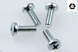 DIN7985 Zinc Pan Head Screw with Cross Recessed pictures & photos