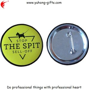 2017 Round Tin Badge Back with Safety Pin (YH-TB006) pictures & photos