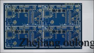 Immersion Gold and Blue Solder PCB (S-020) pictures & photos
